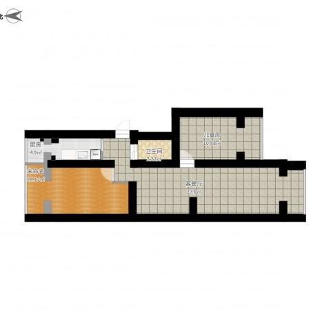 四平园3居室1室1厅1卫1厨78.00㎡户型图