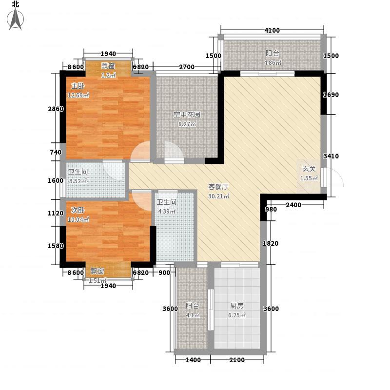 翰林世家c1户型3室2厅1卫1厨