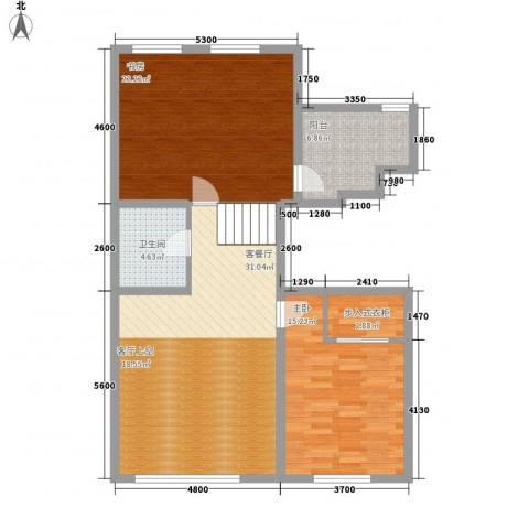 君临天下2室1厅1卫0厨116.00㎡户型图