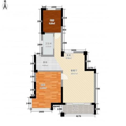 渤海之星2室1厅1卫0厨82.00㎡户型图