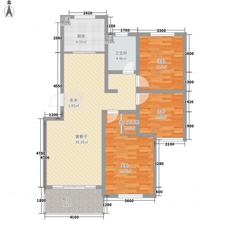 海信盈城户型3室2厅2卫