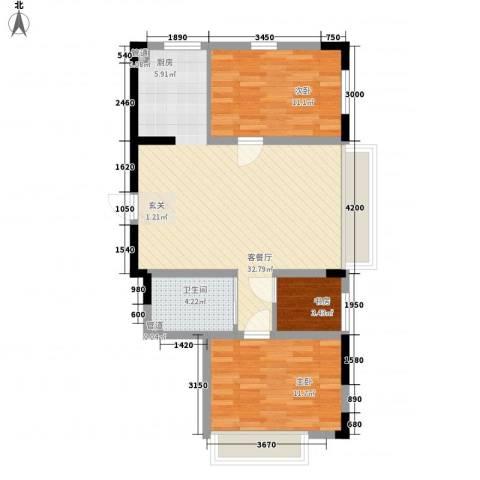 富腾天下城3室1厅1卫0厨109.00㎡户型图