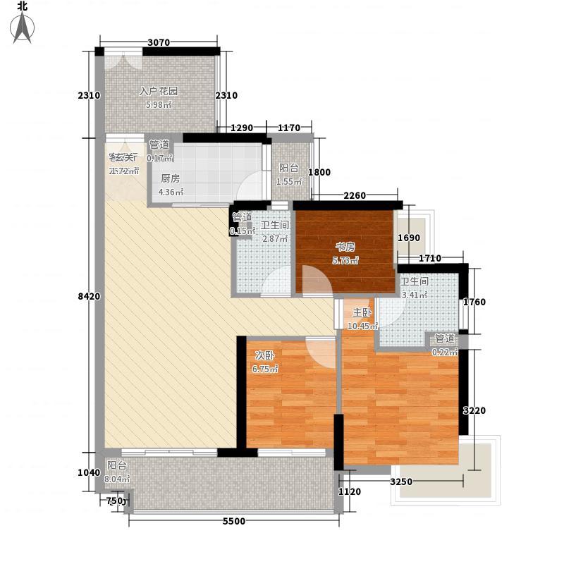星汇云锦11.00㎡3栋01户型3室2厅2卫1厨