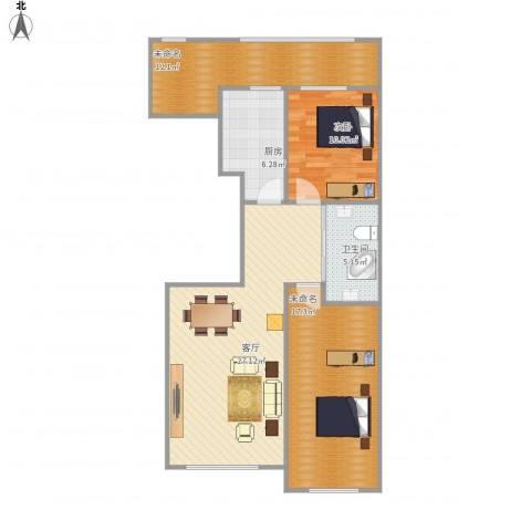 如一坊中央公园1室1厅1卫1厨105.00㎡户型图