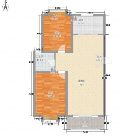 海信盈城2室1厅1卫1厨113.00㎡户型图