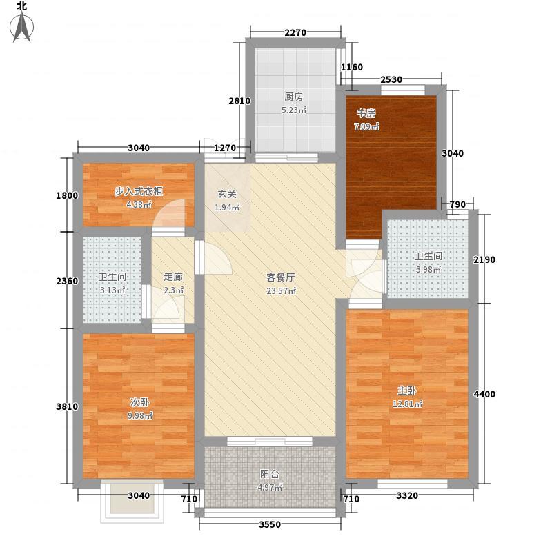 万和公馆113.40㎡L户型3室2厅2卫1厨