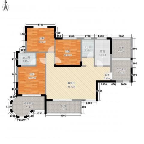 东信华府3室1厅2卫1厨33122.00㎡户型图