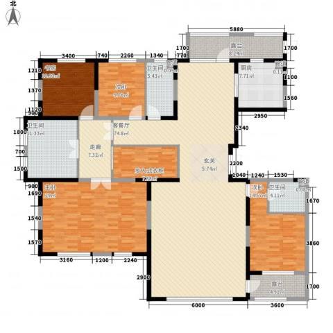 中信御园4室1厅3卫1厨252.00㎡户型图