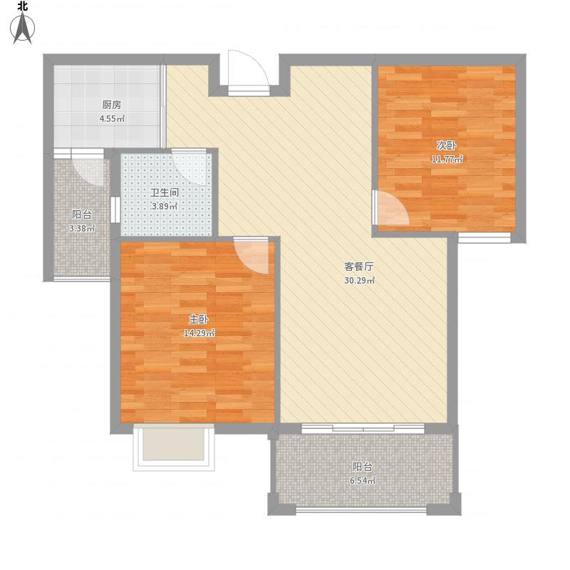 银海鑫都A2户型二室二厅
