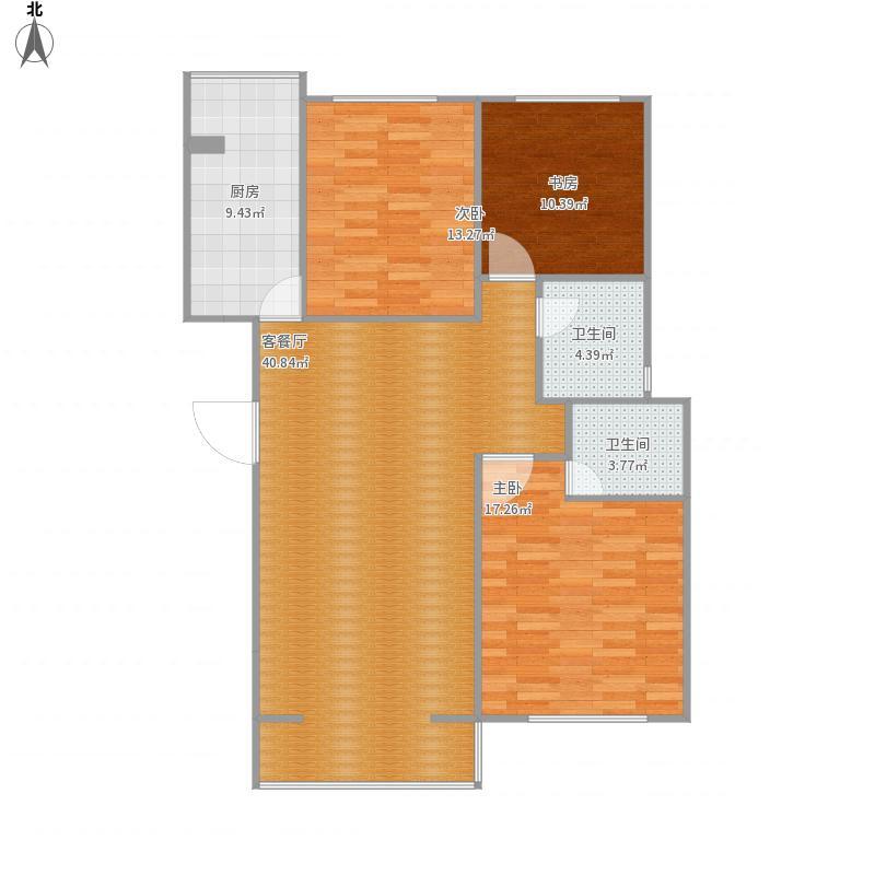 四季嘉园124.7三室两厅两卫