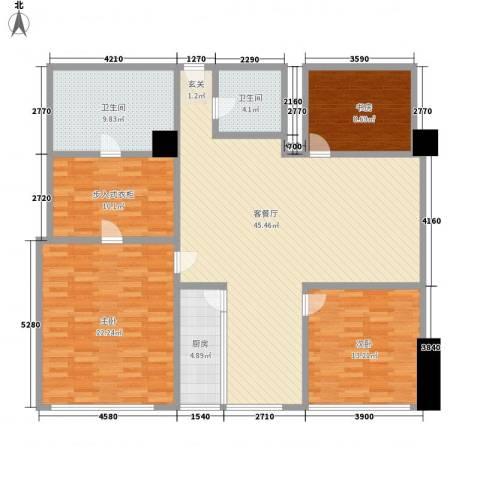 苏州街33号公寓3室1厅2卫1厨181.00㎡户型图