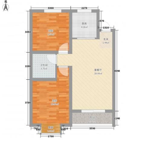 安泰・诚品2室1厅1卫1厨79.00㎡户型图