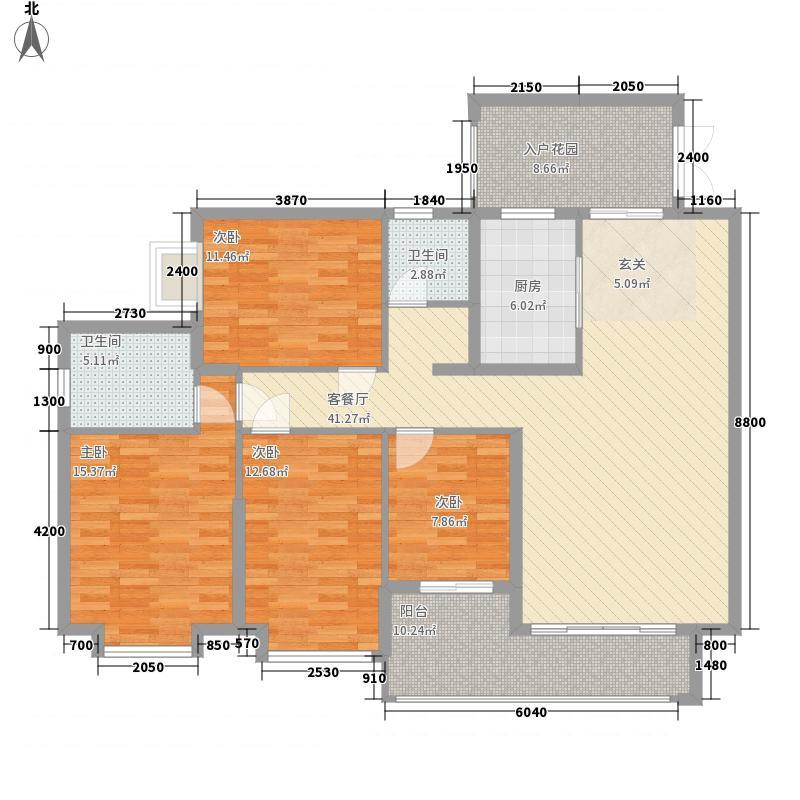 盛世豪庭142.00㎡D-1户型4室2厅2卫1厨