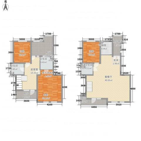 海韵星城3室1厅3卫1厨171.00㎡户型图