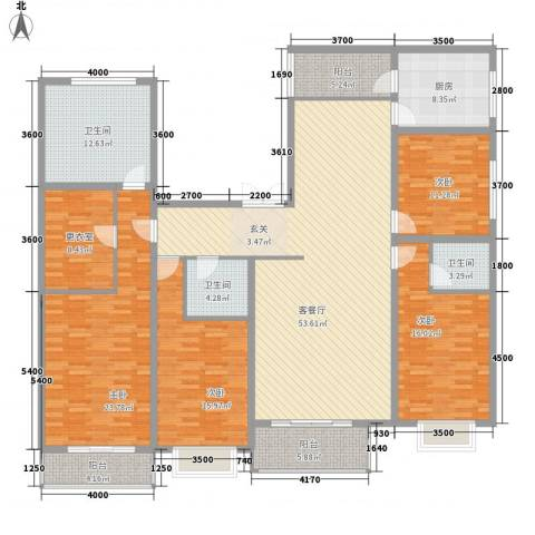 西京府4室1厅3卫1厨243.00㎡户型图