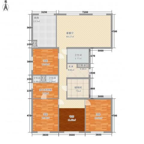 MOMA峰汇3室1厅3卫1厨196.00㎡户型图