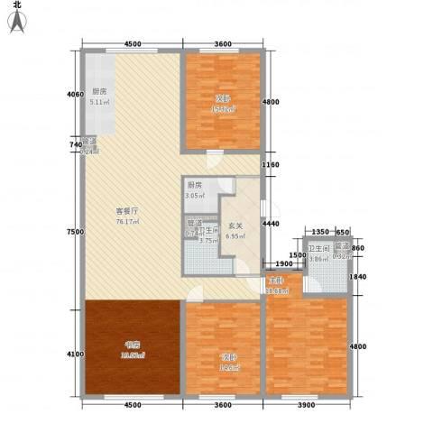 MOMA峰汇3室1厅2卫1厨199.00㎡户型图