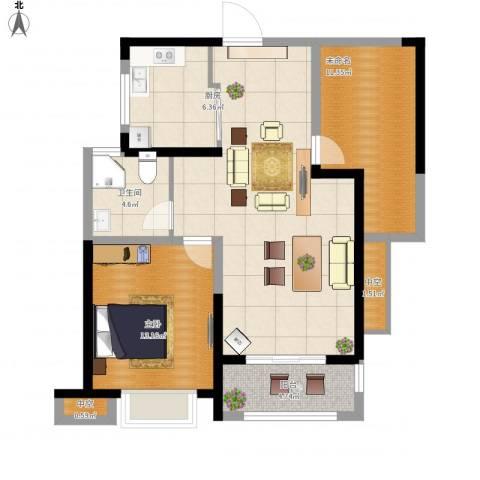高速时代城1室1厅1卫1厨104.00㎡户型图