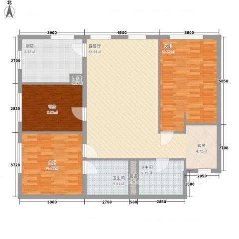 MOMA峰汇3室1厅2卫1厨135.00㎡户型图