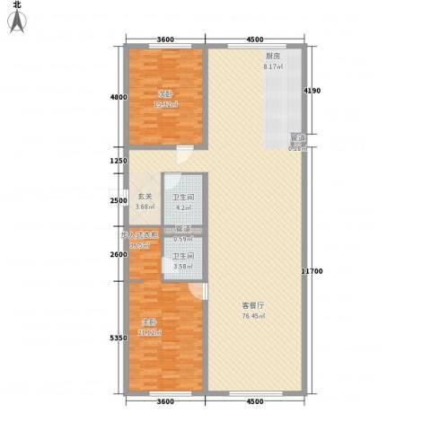 MOMA峰汇2室1厅2卫0厨167.00㎡户型图