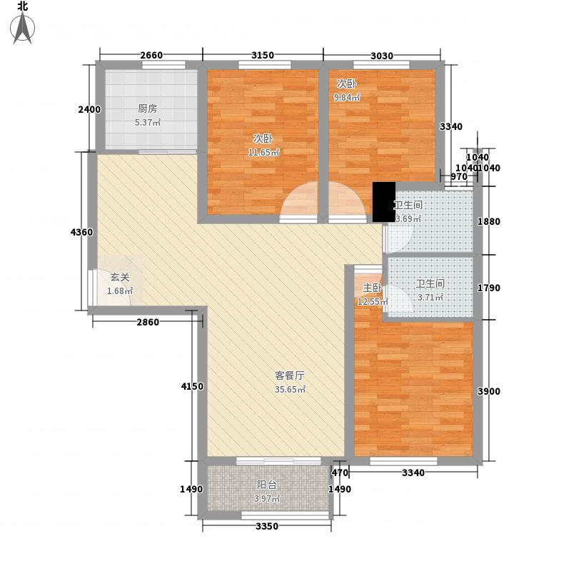 天华・新天地124.00㎡5户型3室2厅2卫1厨