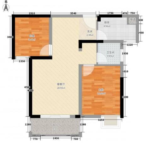 康星顿单身公寓1室1厅1卫1厨90.00㎡户型图