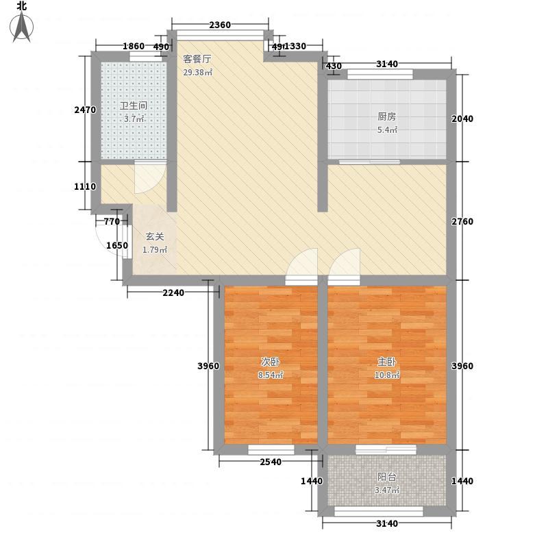 海普・凤凰城328.48㎡H户型2室2厅1卫1厨
