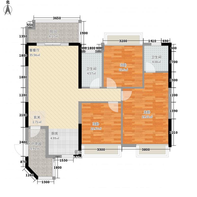 七里香溪2122.65㎡02号房户型3室2厅2卫1厨