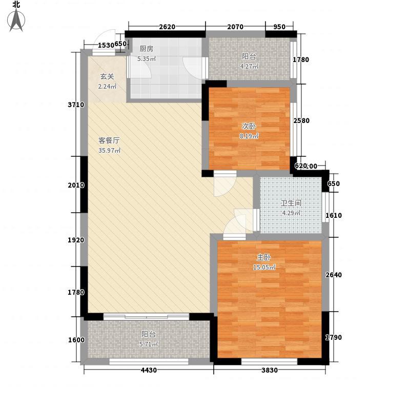天福兰庭湾5号楼户型2厅1卫
