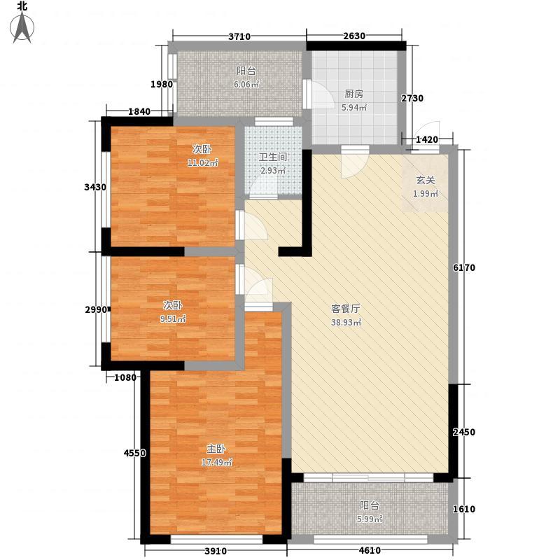 天福兰庭湾7号楼2阳台户型