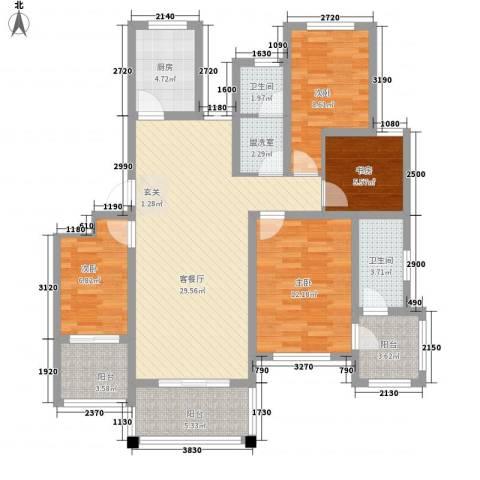 翠湖天地4室2厅2卫1厨87.97㎡户型图