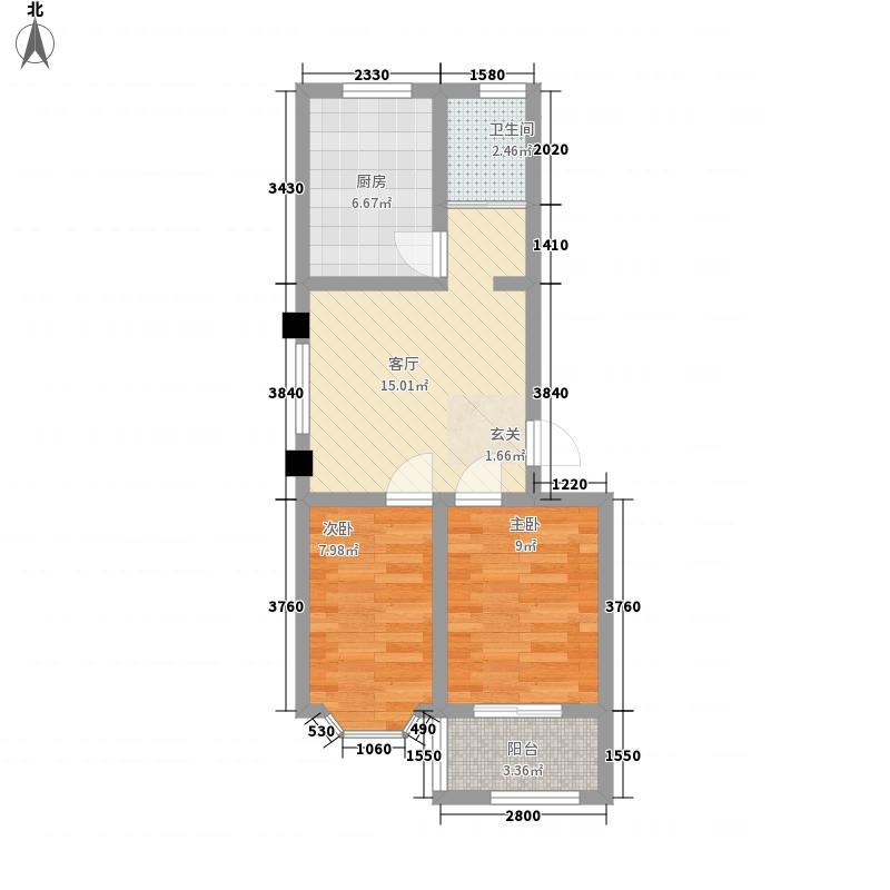 汇丰花园65.00㎡汇丰小区户型2室