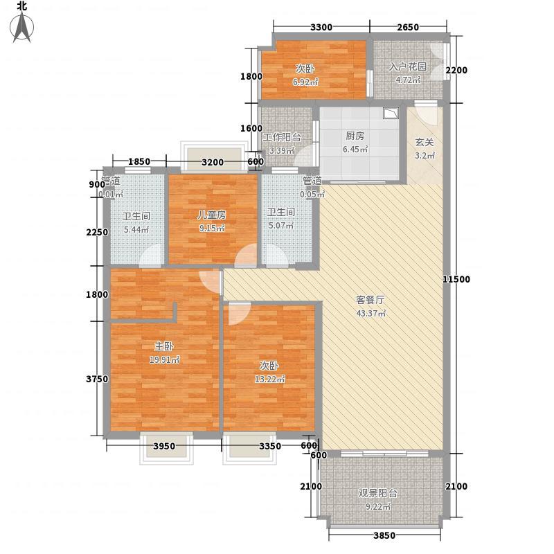 安康・金海湾138.00㎡5、6幢07+0户型4室2厅2卫1厨