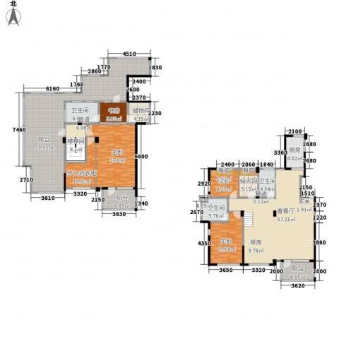 得力浅水湾4室1厅3卫1厨238.46㎡户型图