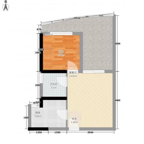 湖畔新城1室1厅1卫1厨315.00㎡户型图