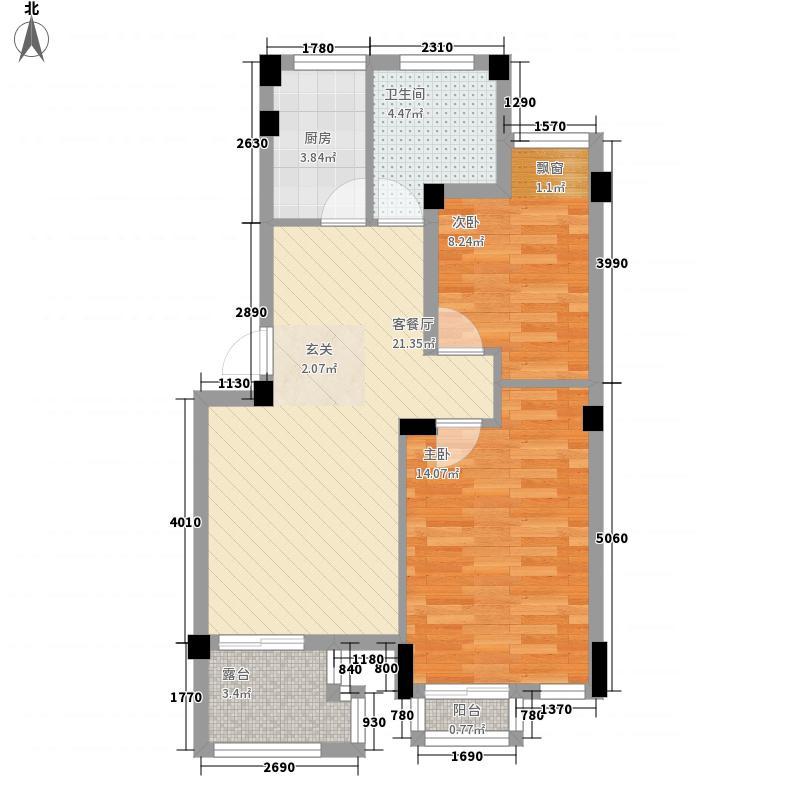 荣安花园81.00㎡10号楼30户型2室2厅1卫1厨