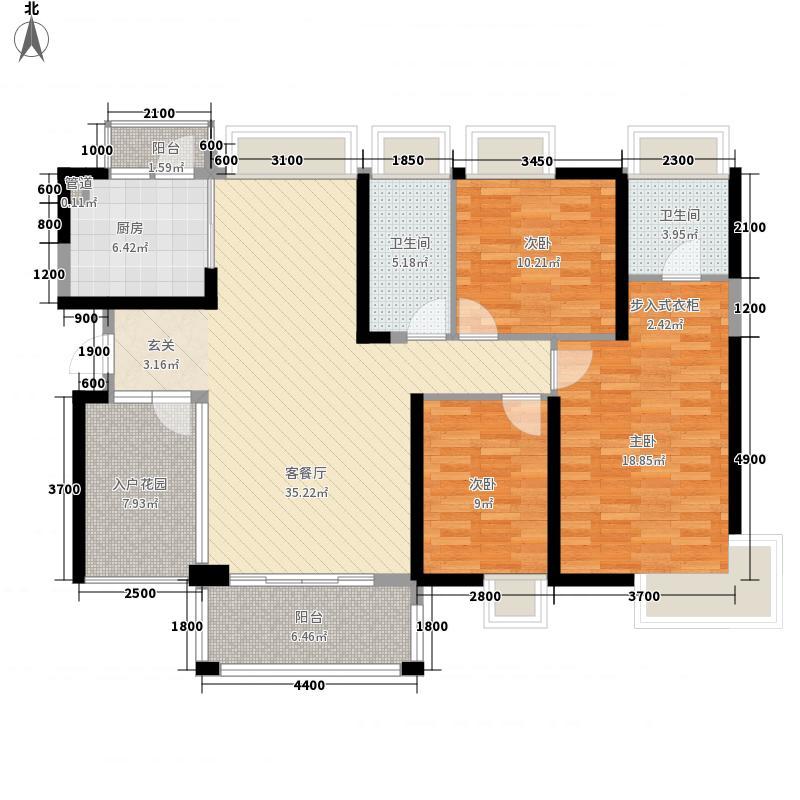 宝豪・御龙湾二期4133.32㎡C户型3室2厅2卫1厨