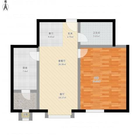 枫桦豪景(尾盘)1室1厅1卫1厨92.00㎡户型图