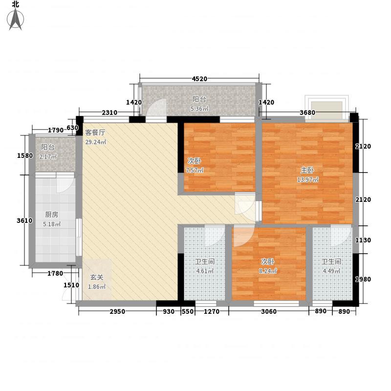 中迪国际社区111.00㎡中迪国际社区I栋户型C3室2厅2卫1厨111.00㎡户型3室2厅2卫1厨
