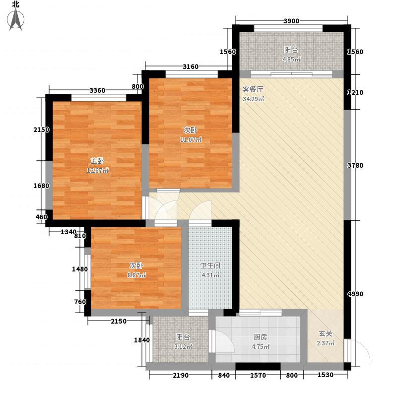 领地凯旋公馆B2-11234-3-2户型