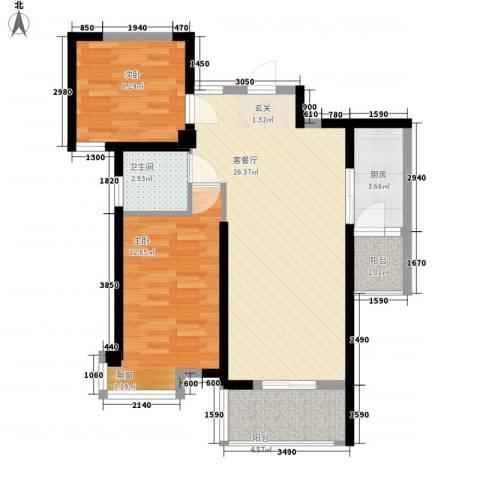 禾祥西轮船厂宿舍2室1厅1卫1厨88.00㎡户型图