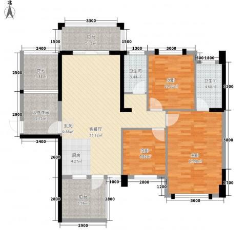 东信华府3室1厅2卫0厨23119.00㎡户型图