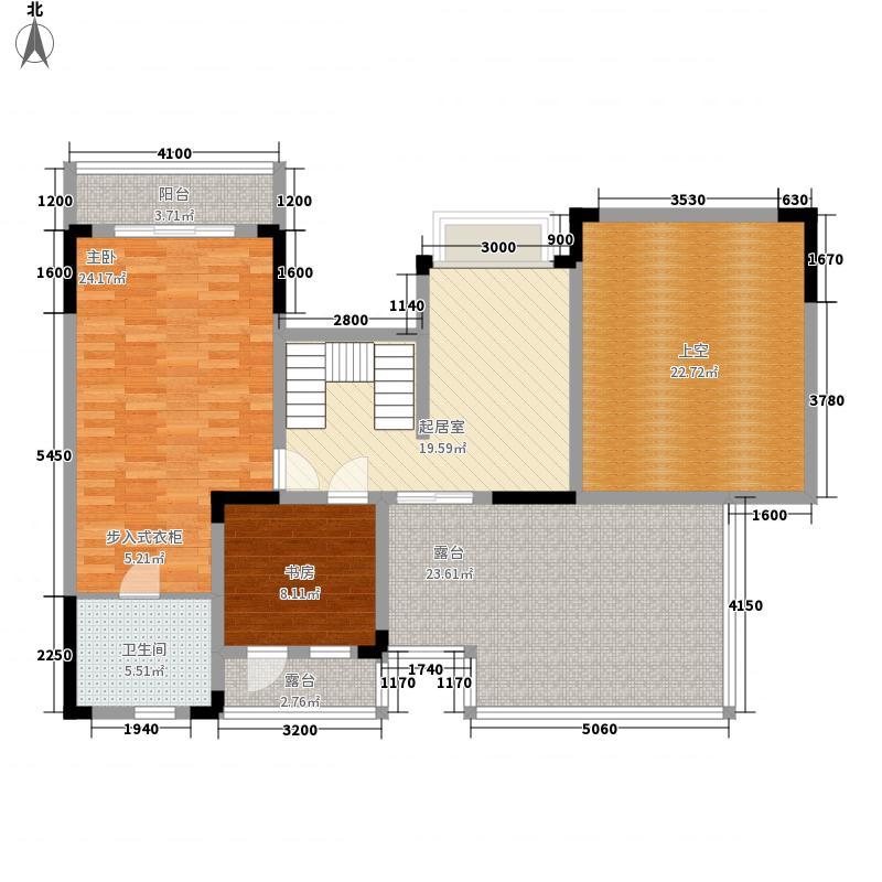 保利国际城215.20㎡海德花园D-顶跃上层户型5室3厅2卫1厨