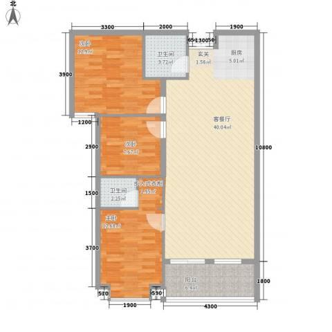 圆梦园3室1厅2卫0厨85.67㎡户型图