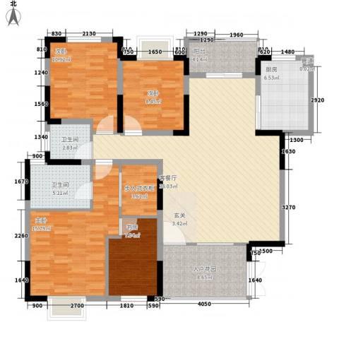 双仙公寓4室1厅2卫1厨155.00㎡户型图