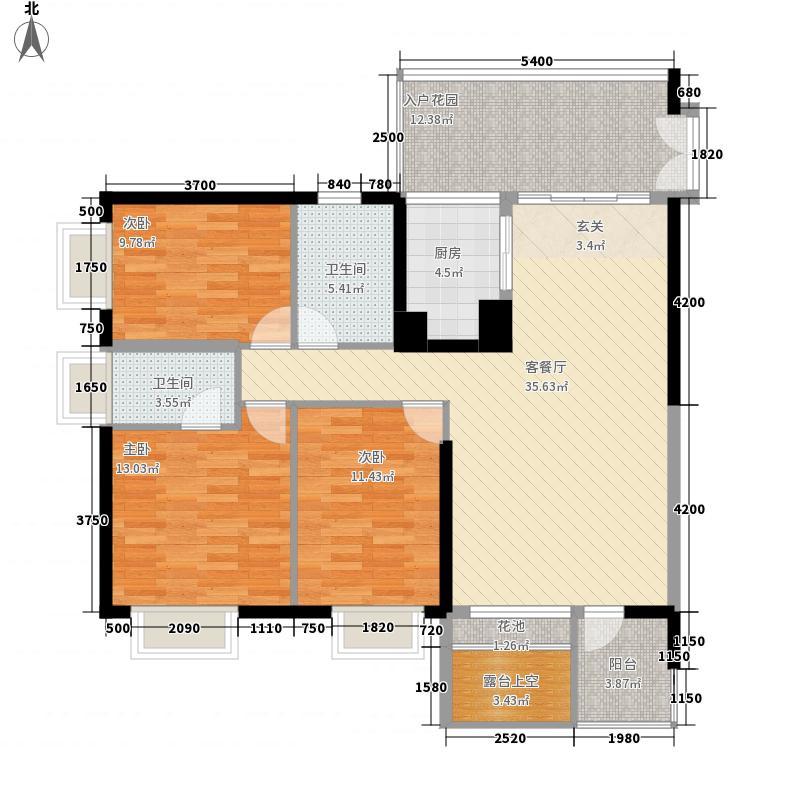 星海名城六期123.00㎡星海名城六期户型图1、5栋G户型3室2厅2卫户型3室2厅2卫