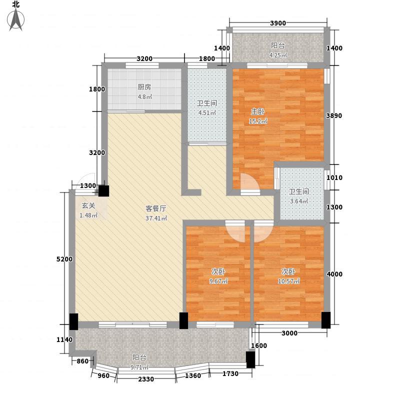 圆梦园115.20㎡B栋户型