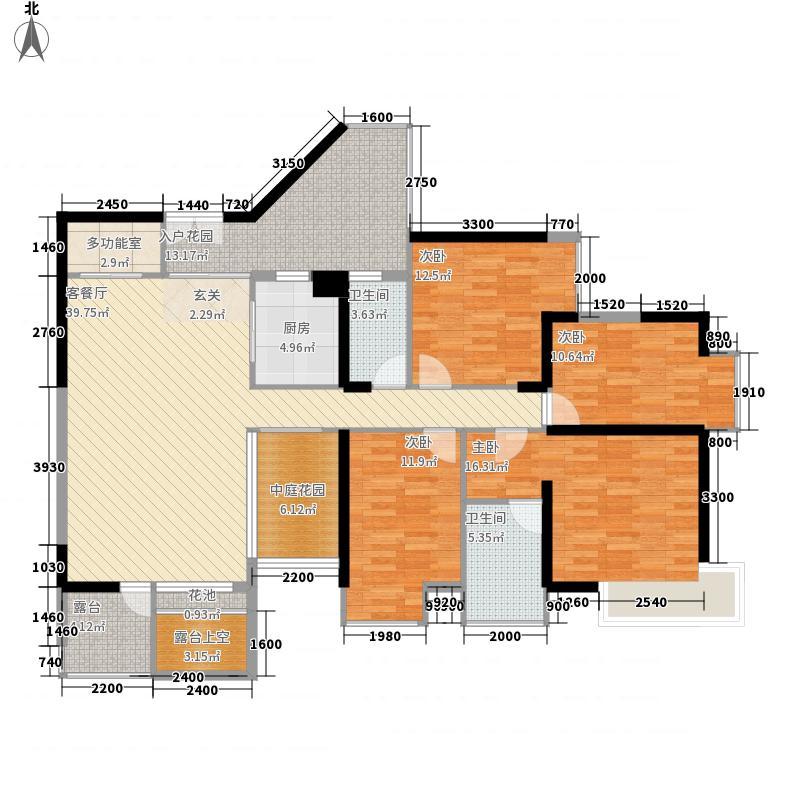 星海名城六期154.00㎡星海名城六期户型图1、5栋H户型4室2厅2卫户型4室2厅2卫