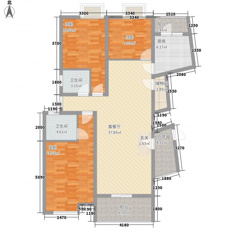 渭塘商业城户型图户型图 3室2厅2卫1厨