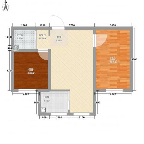 汉森华尔兹2室1厅1卫1厨81.00㎡户型图